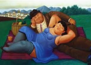 Fernando Botero, Picnic, 2001-Courtesy of Arthemisia