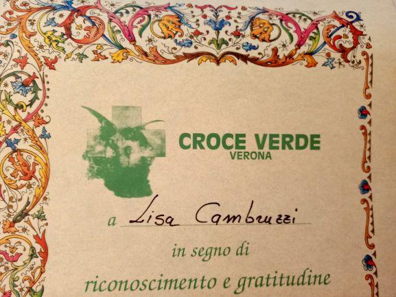 Attestato Croce verde